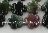 CFG1001 15.5 inches 16mm carved flower Indian Agate beads