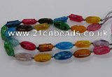CFG1228 15.5 inches 15*30mm carved oval agate gemstone beads