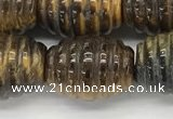 CFG1508 15.5 inches 15*20mm carved rice tiger eye beads