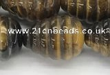 CFG1519 15.5 inches 15*20mm carved teardrop tiger eye beads