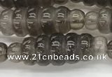 CFG1540 15.5 inches 10*30mm carved rice smoky quartz beads