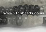 CFG1541 15.5 inches 10*30mm carved rice cloudy quartz beads