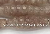 CFG1542 15.5 inches 10*30mm carved rice strawberry quartz beads