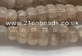 CFG1543 15.5 inches 10*30mm carved rice moonstone beads