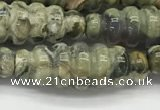 CFG1544 15.5 inches 10*30mm carved rice rhyolite gemstone beads