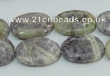 CFJ12 15.5 inches 13*18mm oval natural purple flower stone beads