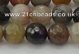 CFJ213 15.5 inches 10mm faceted round fancy jasper beads wholesale