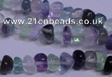 CFL1077 15 inches 5*8mm nuggets natural fluorite gemstone beads