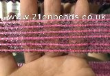 CFL1495 15.5 inches 4mm round purple fluorite gemstone beads