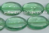 CFL337 15.5 inches 18*25mm oval natural green fluorite beads