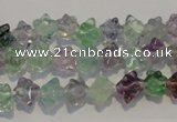 CFL480 15.5 inches 6*6mm carved cube natural fluorite beads