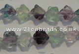 CFL481 15.5 inches 8*8mm carved cube natural fluorite beads