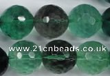 CFL67 15.5 inches 18mm faceted round A grade natural fluorite beads