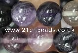 CFL913 15.5 inches 10mm round purple fluorite beads wholesale