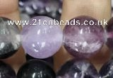 CFL914 15.5 inches 12mm round purple fluorite beads wholesale