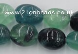 CFL954 15.5 inches 18*22mm nuggets natural fluorite beads wholesale