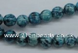 CFS102 15.5 inches 8mm round blue feldspar gemstone beads