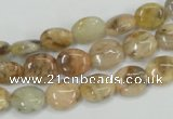 CFS201 15.5 inches 8*10mm oval natural feldspar gemstone beads