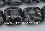 CFS324 15.5 inches 20*20mm square feldspar gemstone beads