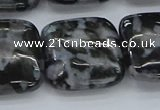 CFS325 15.5 inches 25*25mm square feldspar gemstone beads