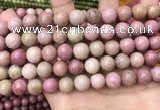 CFW47 15.5 inches 10mm round pink wooden jasper beads wholesale
