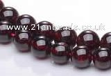 CGA07 multi sizes round natural garnet gemstone beads Wholesale