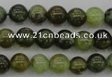 CGA131 15.5 inches 6mm round natural green garnet beads wholesale