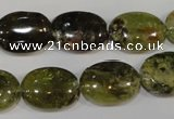 CGA223 15.5 inches 13*18mm oval natural green garnet beads