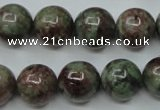 CGA307 15.5 inches 18mm round red green garnet gemstone beads