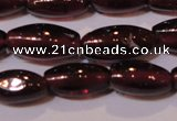 CGA372 15 inches 4*7mm rice natural red garnet beads wholesale