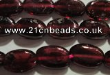 CGA407 15.5 inches 5*7mm oval natural red garnet beads wholesale