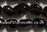 CGA416 15.5 inches 5*6mm nuggets natural red garnet beads wholesale