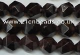 CGA451 15.5 inches 8mm faceted nuggets natural red garnet beads