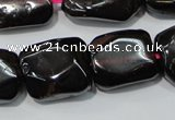 CGA474 15.5 inches 10*14mm – 12*16mm freeform natural red garnet beads
