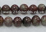 CGA50 15.5 inches 10mm round red green garnet gemstone beads