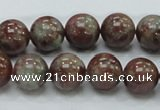 CGA51 15.5 inches 12mm round red green garnet gemstone beads