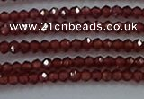 CGA515 15.5 inches 2*2.5mm faceted rondelle red garnet beads