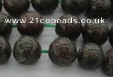 CGA552 15.5 inches 8mm round red green garnet gemstone beads