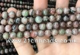CGA685 15.5 inches 8mm round kashgar garnet beads wholesale