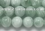 CGA900 15.5 inches 4mm round green angel skin gemstone beads