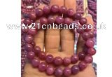 CGB2501 7.5 inches 7mm round ruby gemstone beaded bracelets