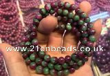 CGB2520 7.5 inches 9mm round ruby zoisite beaded bracelets