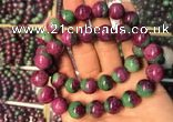 CGB2521 7.5 inches 10mm round ruby zoisite beaded bracelets