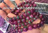 CGB2526 7.5 inches 8mm round ruby zoisite beaded bracelets