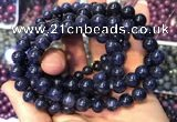 CGB2532 7.5 inches 6mm round sapphire gemstone beaded bracelets