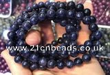 CGB2537 7.5 inches 13mm round sapphire gemstone beaded bracelets