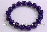 CGB2564 7.5 inches 12mm round charoite gemstone beaded bracelets