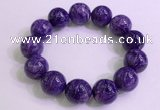 CGB2566 7.5 inches 18mm round charoite gemstone beaded bracelets
