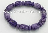 CGB2579 7.5 inches 13*17mm drum charoite gemstone bracelet