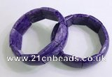 CGB2581 7.5 inches 18*25mm charoite gemstone bracelet